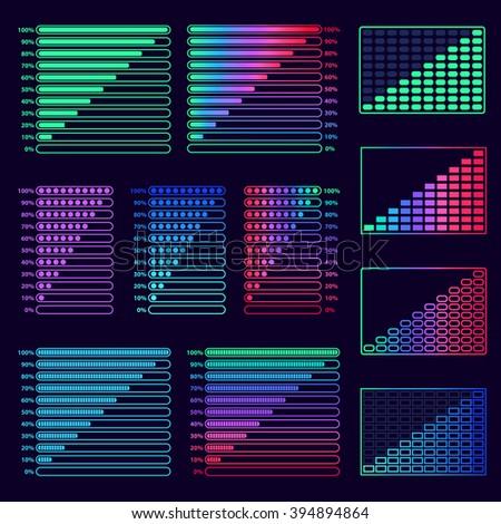 interface elements design set