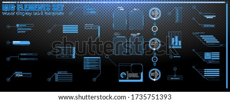 Interface elements HUD, UI, GUI. Vector Callout Titles set. Futuristic callout bar labels, information call box bars and modern digital info boxes layout design transparent templates. Callouts titles