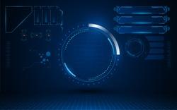 interface futuristic hud ui sci fi design security concept template eps 10 vector