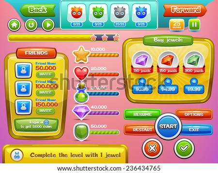 interface game design and