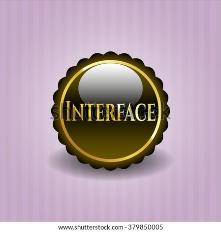 Interface gold emblem