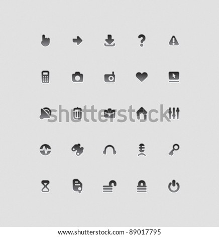 Interface icons for computer programs and web-design. Vector illustration.