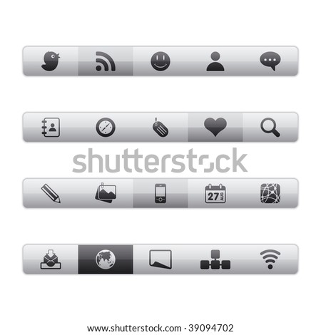 Interface Icons - Social Media. Editable Vector File in Adobe Illustrator EPS 8.