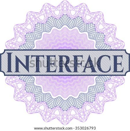 Interface linear rosette