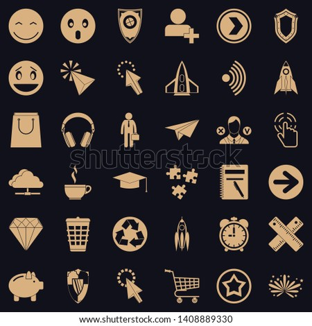 Interface of pictogram icons set. Simple style of 36 interface of pictogram vector icons for web for any design