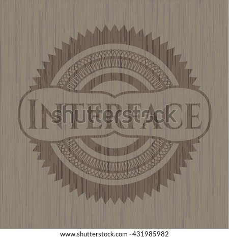 Interface retro style wood emblem