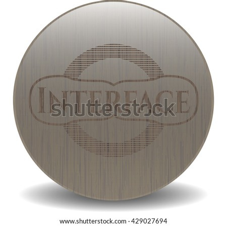 Interface retro wood emblem