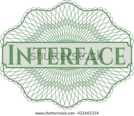 Interface rosette or money style emblem