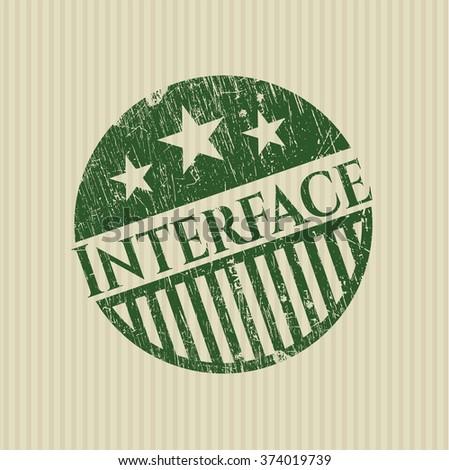 Interface rubber grunge texture stamp