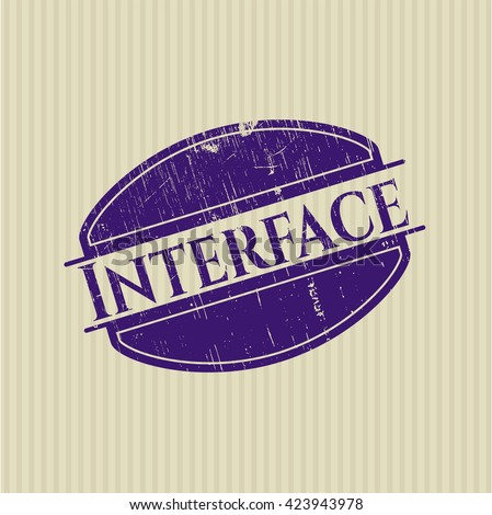 Interface rubber grunge texture stamp