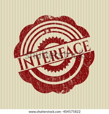 Interface rubber texture