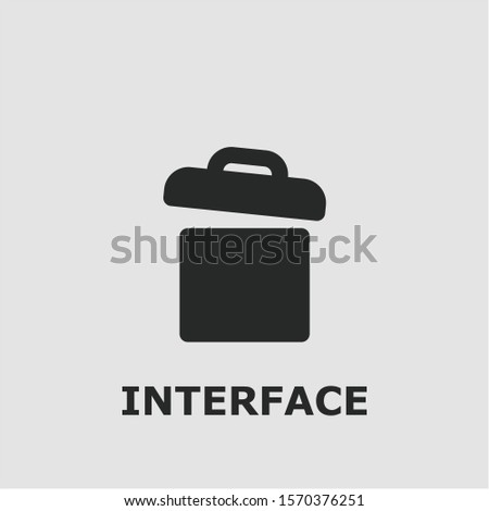 Interface symbol. Outline interface icon. Interface vector illustration for graphic art.