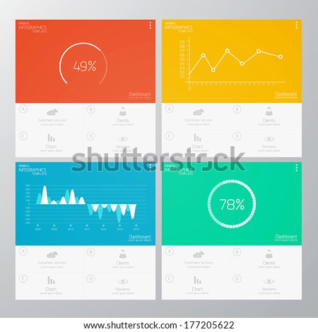 Interface Template-Modern Concept For Internet Web. Flat design. Vector