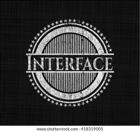 Interface written on a blackboard