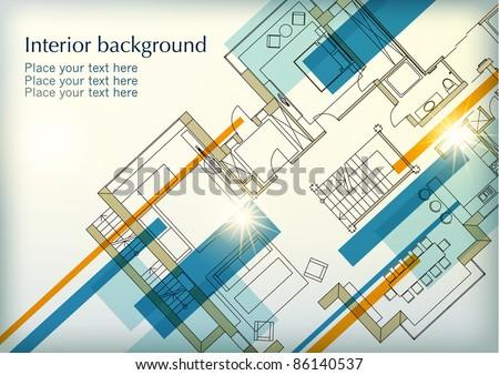 Interior background - stock vector