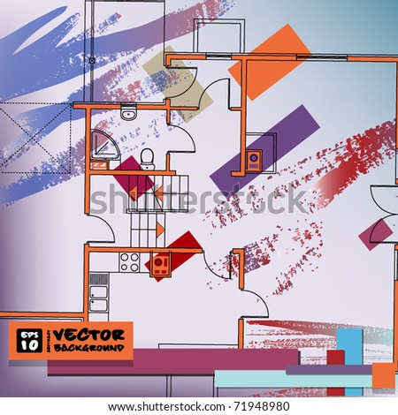 interior background. vector. EPS10
