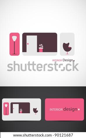 Interior design icon such logo, Vector EPS10.