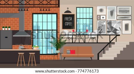 interior design in loft style