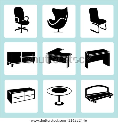 interior design, interior furniture set