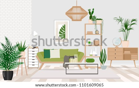 interior design of a living