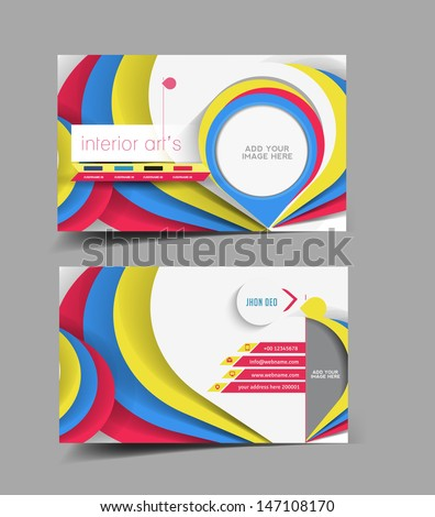 Interior Designer Business Card Vector Design