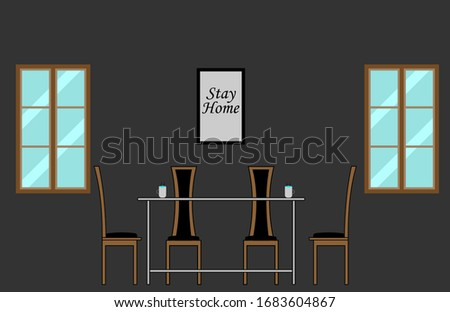 interior dining room with four