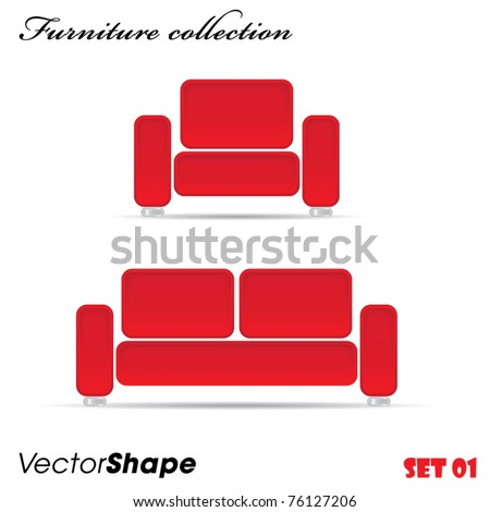 Interior furniture sofa and armchair