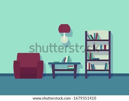 interior green room armchair