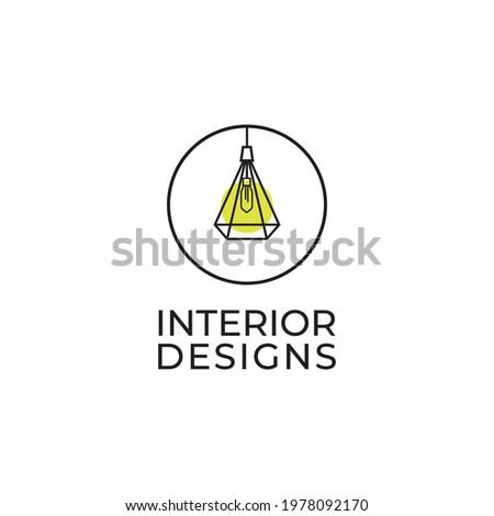 Interior logo design illustration inspiration vector template