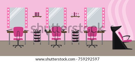 interior of a hairdressing