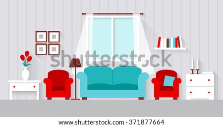 interior of a living room flat
