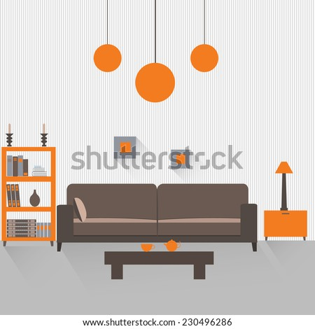 interior of a living room with