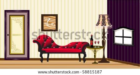 interior of classic living room