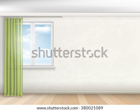 interior of empty room window