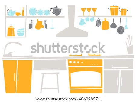 interior of kitchen place