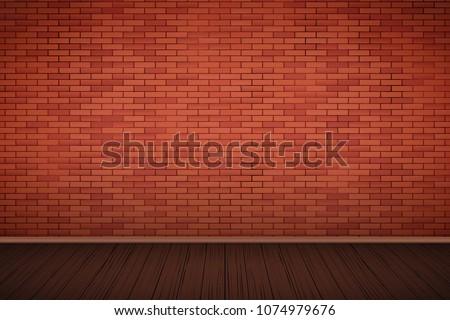 interior of red brick wall and