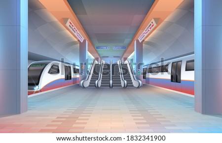 interior of subway or metro