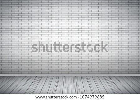 interior of white brick wall