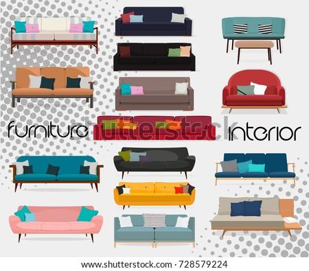 interiorset of sofas sofa