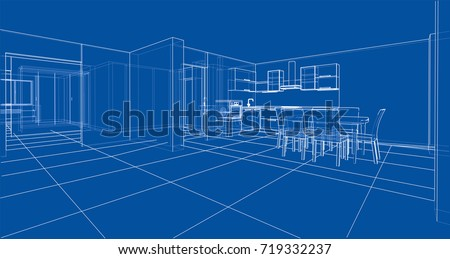 interior sketch vector