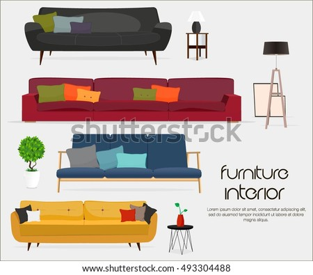 interior sofa sets and home