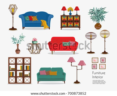 Free vector furniture and home accessories - Download Free Vector ...