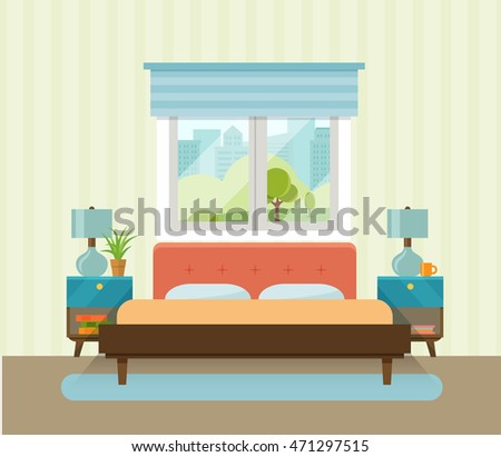 interior space bedroom with a