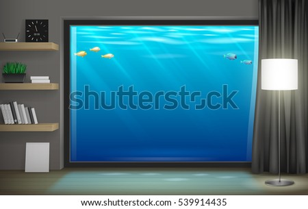 interior underwater hotel with
