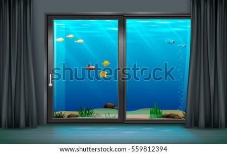interior underwater hotel with