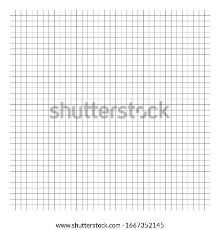 Interlace, interlock grid, mesh lines. Squared, checkered graph paper background / pattern. Cellular crossing, intersecting lines. Coordinate paper, millimeter paper. (Lines are not expanded)