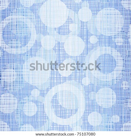 Interlacing a blue jeans fabric with drawing circles