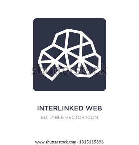 interlinked web icon on white background. Simple element illustration from Web concept. interlinked web icon symbol design.