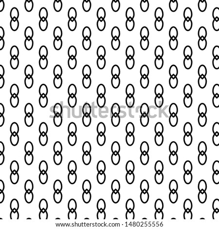 Interlocking circle set Infinity style on the White Blackground