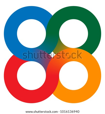 Interlocking circles - 4 interlocking circle symbol element